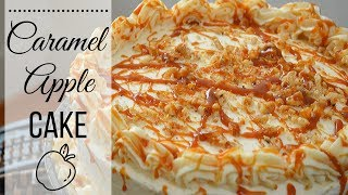 Caramel Apple Cake I How to make a caramel Apple Cake I With cream cheese frosting