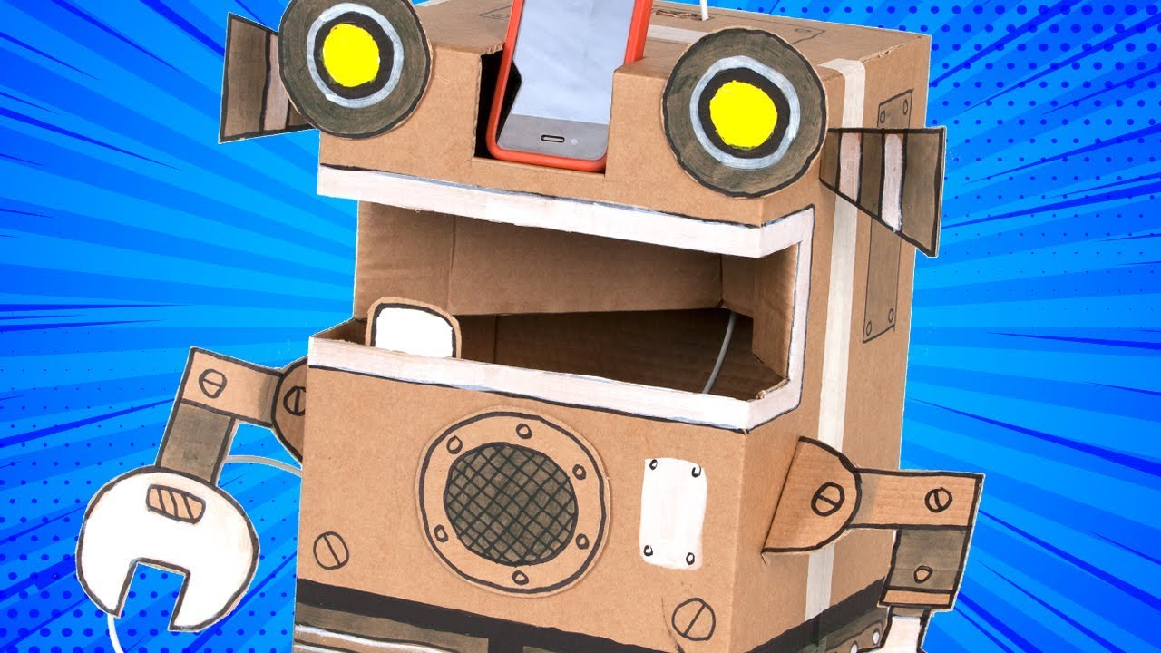 How To Make A Cardboard Robot Diy Craft Ideas For Kids Youtube