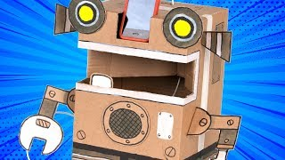 How to Make a Cardboard Robot | DIY Craft Ideas for Kids