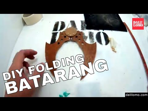DIY Batman Foldable Batarang (with template)