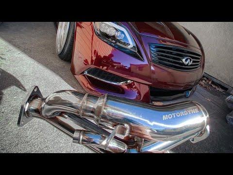 g35 350z motordyne art pipes install w megan y pipe resonator and muffler delete
