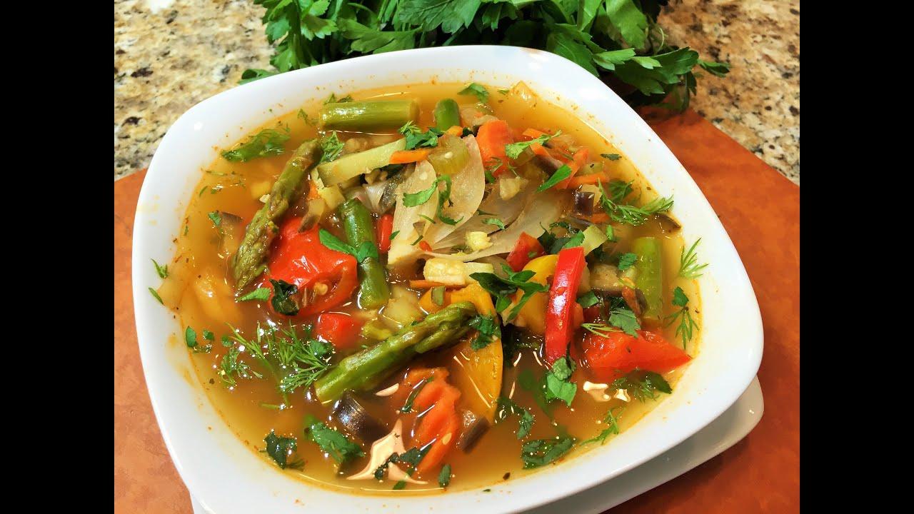 ПОСТНЫЙ ОВОЩНОЙ СУП, наивкуснейший  (Vegetable soup, diet.)