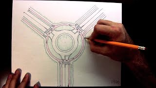 How to draw a Dutch Roundabout