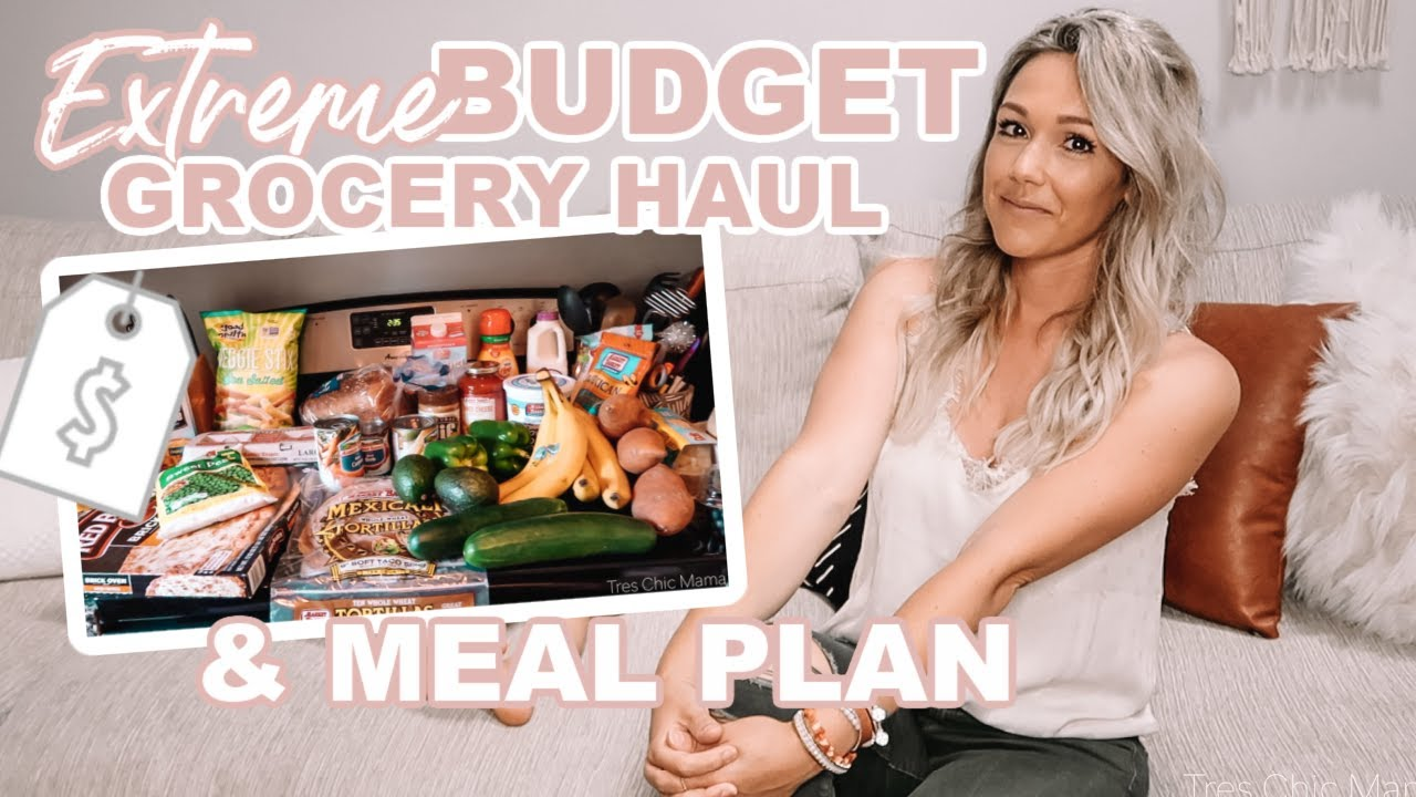 <div>EXTREME BUDGET GROCERY HAUL & WEEKLY MEAL PLAN| HEALTHY GROCERY HAUL 2020| Tres Chic Mama</div>
