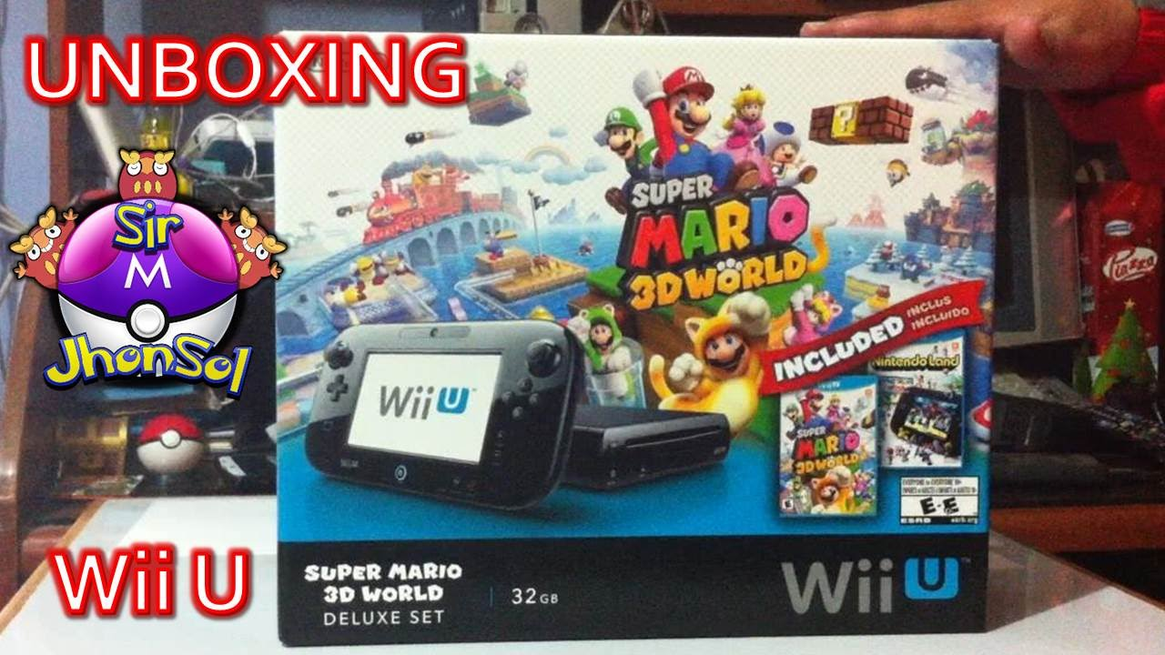 Unboxing Wii U Bundle Super Mario 3D World en Español - YouTube