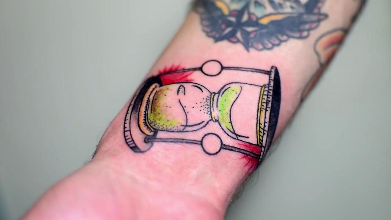 Tattoo Reloj De Arena Tradicional