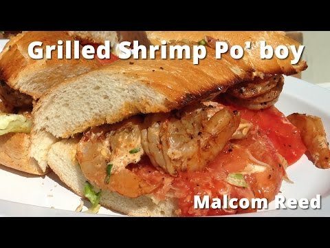 Grilled Shrimp PoBoy | Barbecue Shrimp PoBoy On The Grill Malcom Reed HowToBBQRight