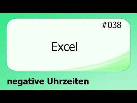 excel 038 negative uhrzeiten deutsch youtube. Black Bedroom Furniture Sets. Home Design Ideas