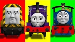 Wrong Heads THOMAS AND FRIENDS, Bertie, Ben, Peter Sam, Funny Face Swap Finger Family Song