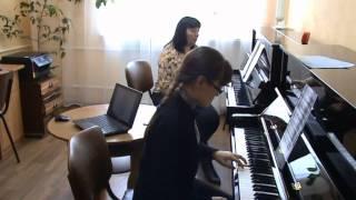 Работа над мелодией в процессе обучения игре на ф-но в старших классах