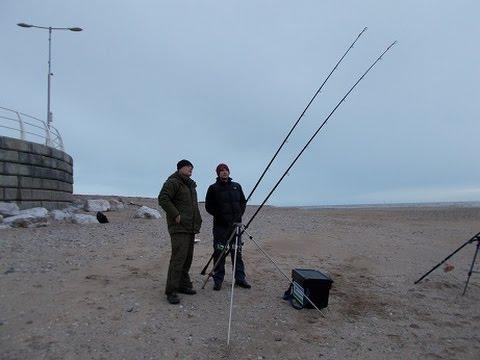 Fishing At Kinmel Bay, Deganwy, Rhyl.  Geoff's Tackle And Bait.  Kai Edwards
