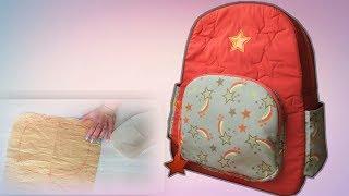 Как сделать рюкзак своими руками в школу / Школьный рюкзак/ мастер-класс построения выкройки рюкзака