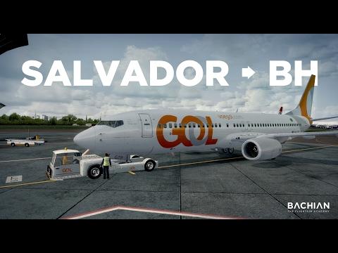 Prepar3D - B737-800 / Salvador → Belo Horizonte online pela Ivao
