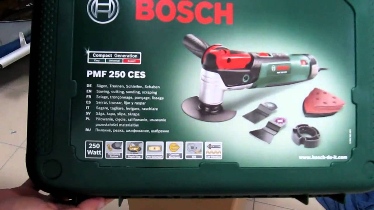 unpacking unboxing multifunction tool bosch pmf 250 ces 0603100670