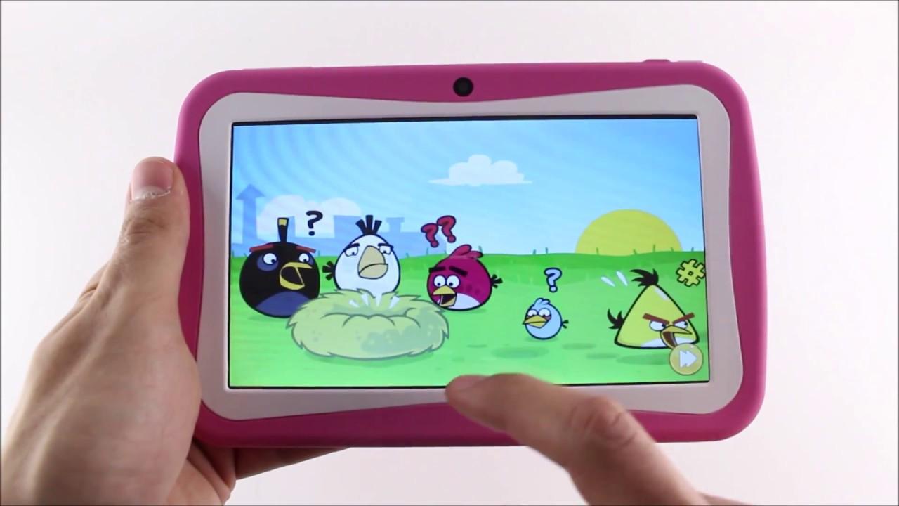 Kinder Tablet Roze.Kinder Tablet 7 Inch Pink Roze Blauw Geeektech