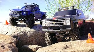 rc adventures vaterra ascender 4x4 vs g made komodo 4x4 chevy k5 blazer vs ford
