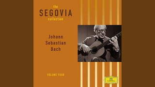 J.S. Bach: Suite for Cello Solo No.6 in D, BWV 1012 - Transcribed by Segovia, transposed to E...