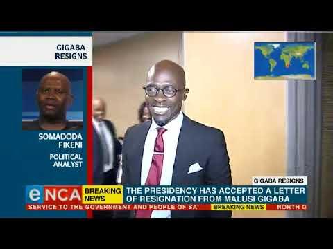 Analysis on Gigaba's resignation