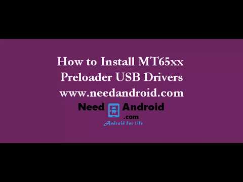 How To Install MT65xx Preloader USB Drivers