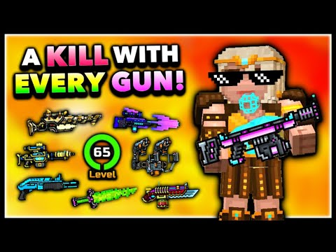 Get A Kill With EVERY WEAPON MAX LEVEL In Pixel Gun 3D! Max Account Challenge! (Special)