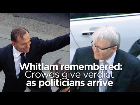 Crowds give verdict on arriving politicians