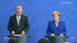 Pressekonferenz mit recep tayyip erdogan (präsident der türkei) und angela merkel (bundeskanzlerin, cdu) nach gesprächen im kanzleramt