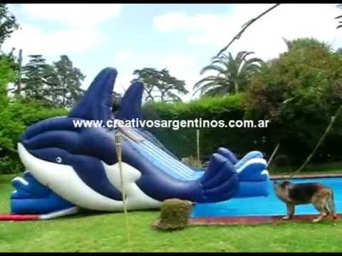 Alquiler Y Fabrica De Inflables Tobogan Ballenas Inflable Al Borde
