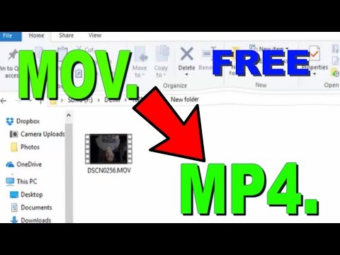 HOW TO CHANGE MOV. Files To  MP4. (NO SOFTWARE NEEDED) Fast and Easy