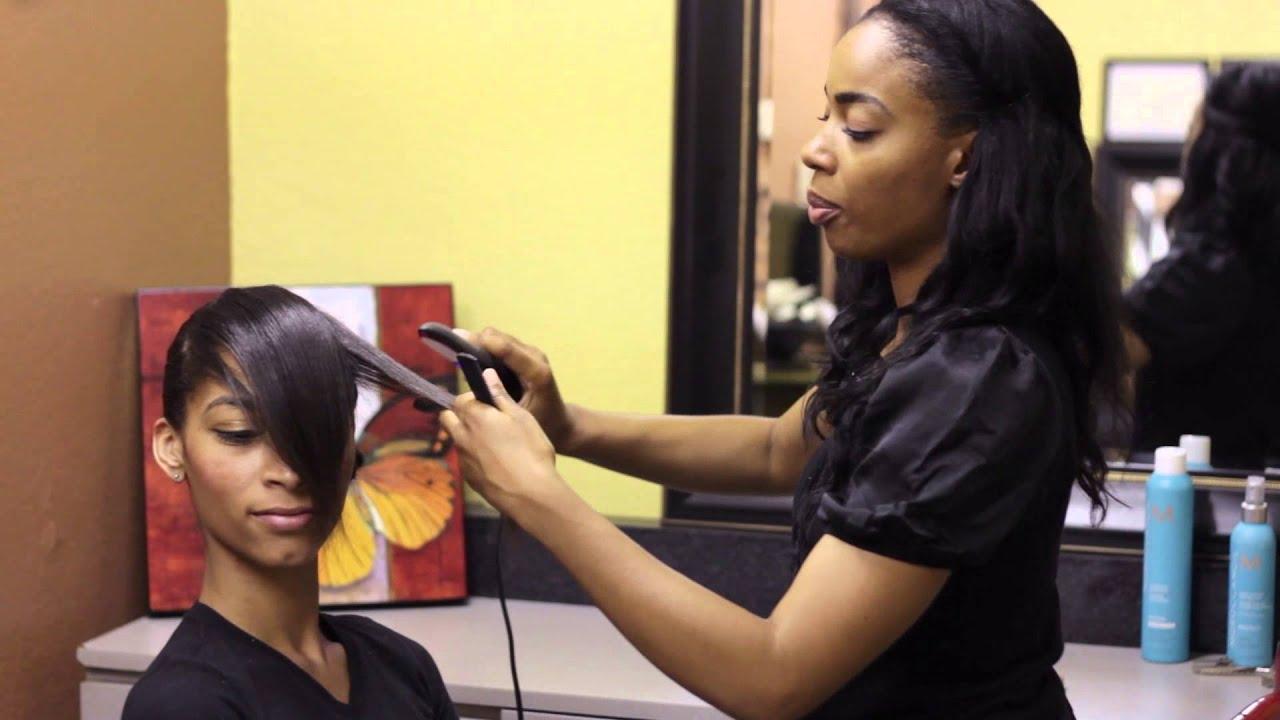 Hair Bangs Style: Haircuts With Long Bangs & Short Hair : Bangs & Styling