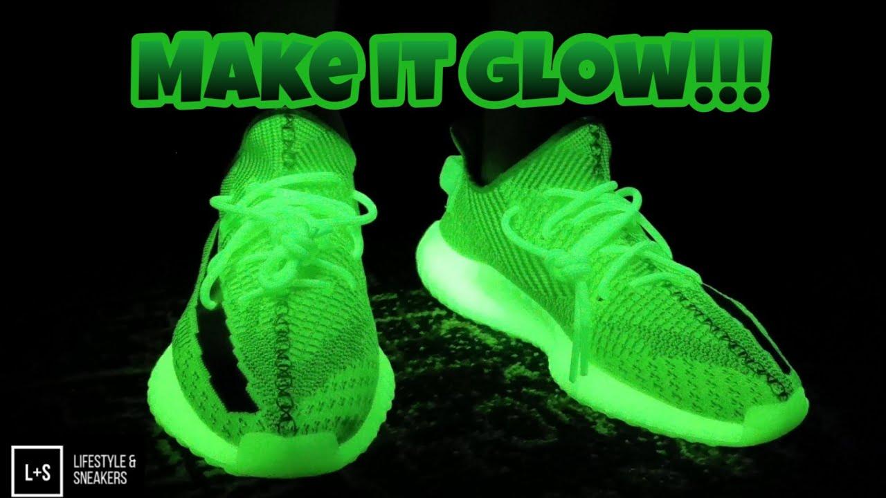 neon laces yeezy