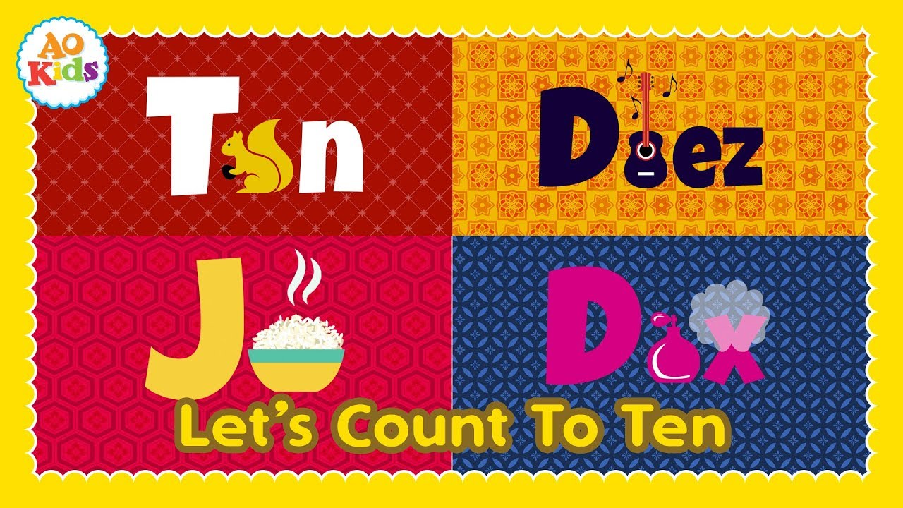 Let's Count to Ten in 4 Different Languages! (Kid's Song) | English, Spanish, Japanese &am