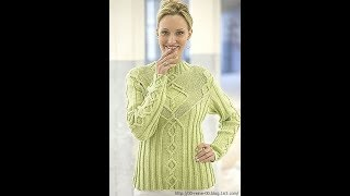 Пуловер 48 размера Спицами - 2019 / Size 48 Pullover