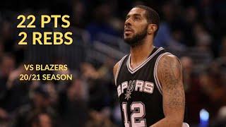 Lamarcus Aldridge 22 Pts 2 Rebs 1 Ast Highlights Vs Portland Trail Blazers | NBA 20/21 Season