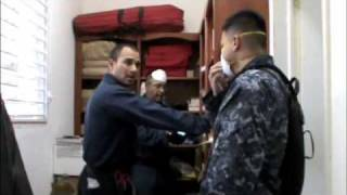 The Crew of the Coast Guard Cutter Mohawk assist victims of the earthquake in Haiti