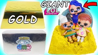 LOL Surprise Dolls Dig for GOLD Diamond + Lil Sisters Blind Bags!