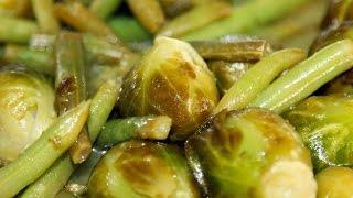 брюссельская капуста. Как приготовить брюссельскую капусту. С зелёной фасолью. Моя Dolce vita