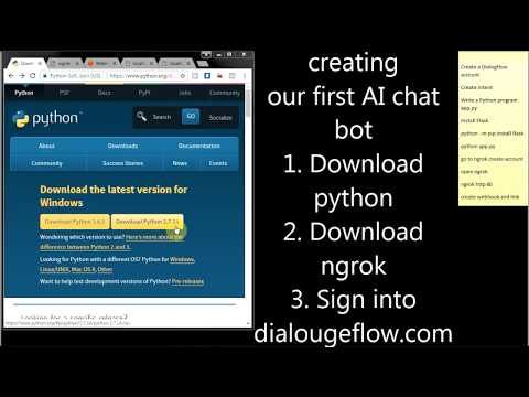 Making of simple AI Chat Bot using webhook | Python | dialogflow.com | API.AI | ngrok