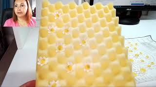 Ромашки из мастики ( подготовка декора к торту )