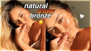 Natural Glowy Bronze Makeup Tutorial (no foundation or false lashes) | Roxette Arisa