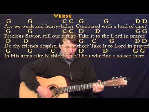 What A Friend We Have in Jesus (Hymn) Strum Guitar Cover Lesson in G with Chords/Lyrics