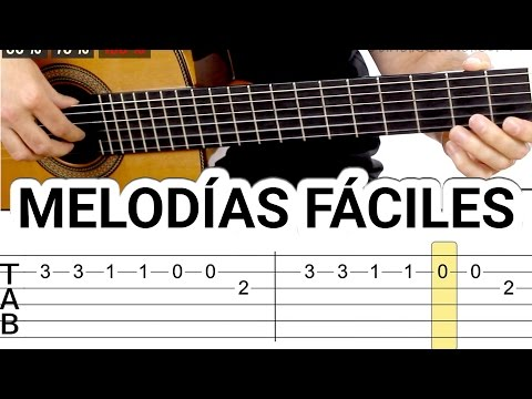 Top Easy guitar melodies for learning to play the guitar