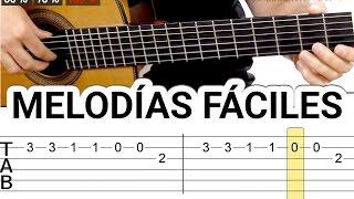 Melodías y canciones para guitarra fáciles tocar guitarra facil