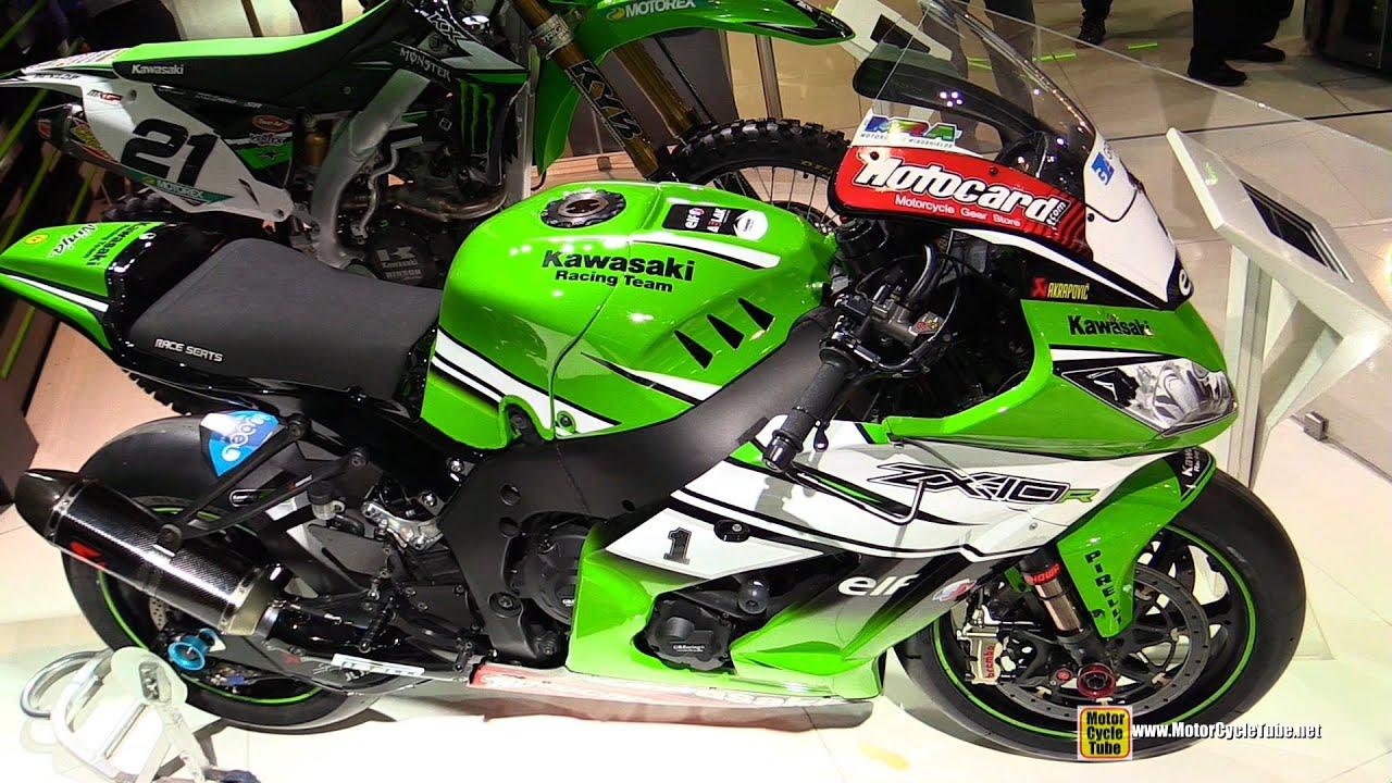 2014 kawasaki zx-10r wsbk racing bike - walkaround - 2014 eicma