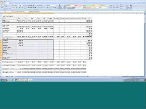 Startup Financials Boot Camp - #2 - Cash Flow Forecast