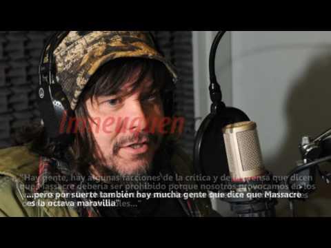 En Neuquén, el cantante de Massacre se metió en la polémica por los abusos en el rock