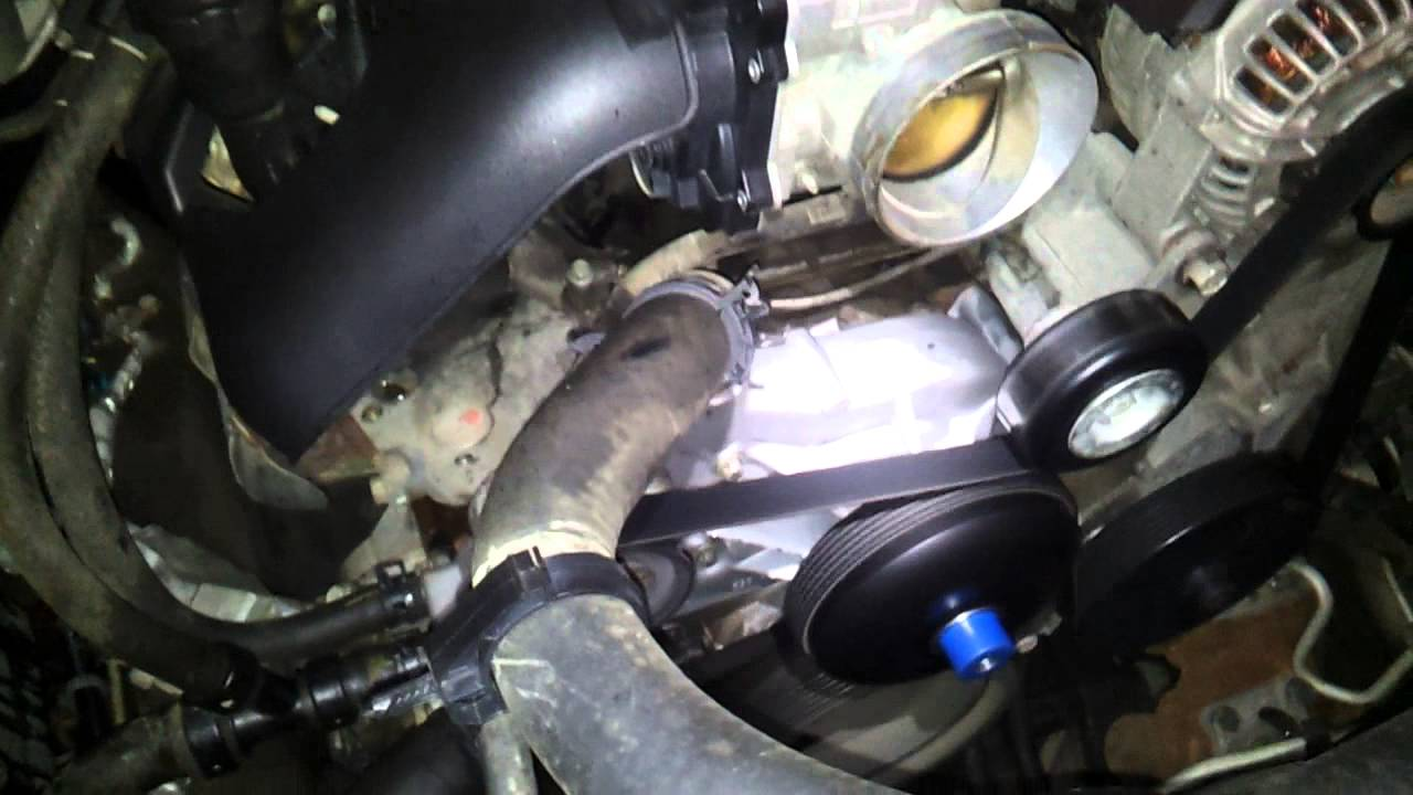 medium resolution of how to remove water pump 2005 escalade part 4