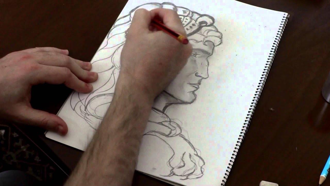 Draw pencil sketcing great alexander