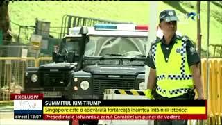 Un reportaj din Singapore făcut cu o zi inainte de intalnirea Trump-Kim Jong-un. Stirea a fost difuzata de Stirile TVR.