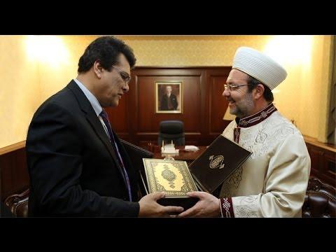 Arakanlı Müslümanlardan Diyanet'e ziyaret...