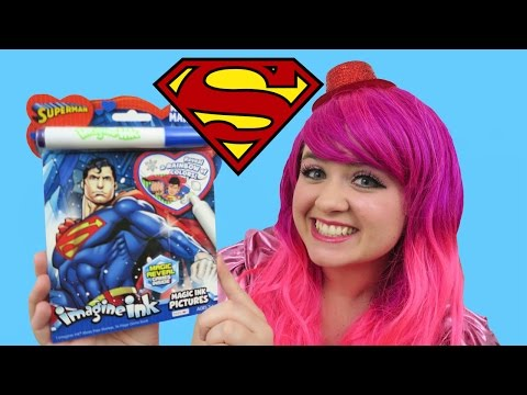 Superman Magic Ink Coloring & Activity Book Imagine Ink | KiMMi THE CLOWN